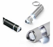 Chaveiros Chaveiro lanterna personalizado Brinde chaveiro de alumínio e LED personalizado FBAL-93153