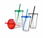 Brinde copo com canudo personalizado 600ml - FBCC-08800