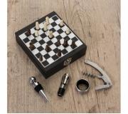Cozinha e afins Kit vinho personalizado Brinde kit vinho + jogo de xadrez - FBKV-12046