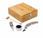Cozinha e afins Kit vinho personalizado Brinde kit vinho 5 peças personalizado FBKT-94190