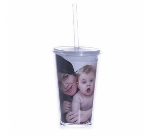 Brinde copo com canudo personalizado - FBCP-13712