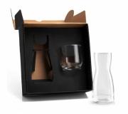 Brinde moringa de vidro com copo personalizado FBVI-01500