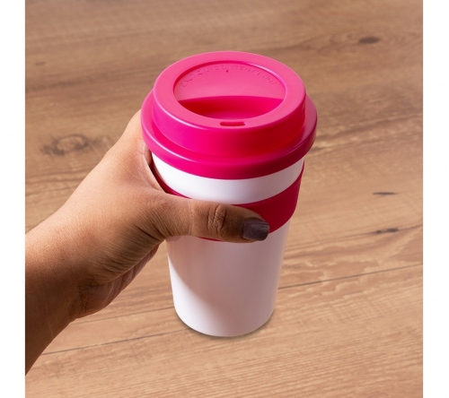 Brinde copo com tampa personalizado - FBCP-18541