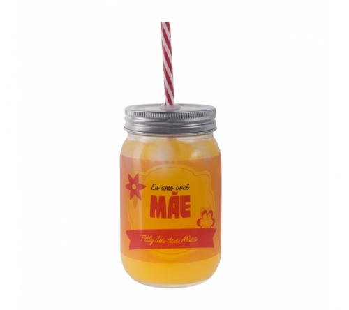 Brinde frasco de vidro personalizado 420 ml