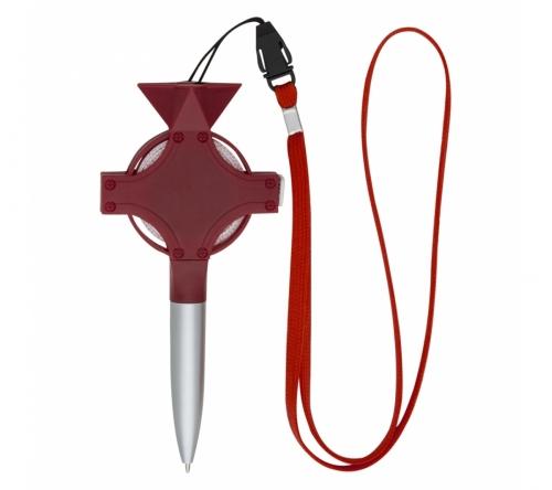 Brinde caneta plástica personalizada com fita métrica - FBCE-00717
