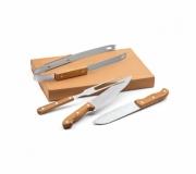 Cozinha e afins Kit churrasco personalizado Brinde kit churrasco personalizado FBKT-94140