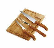 Brinde kit churrasco personalizado 4 peças - FBKC-19123