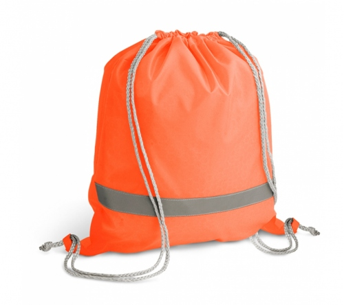 Brinde sacola tipo mochila com elementos refletivos personalizado FBSM-92835