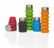 Diversos Squeeze personalizada Brinde garrafa em silicone persolizada, retrátil 500 ml - FBSQ-05700