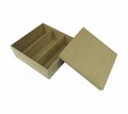 Diversos Caixas personalizadas Brinde caixa de MDF personalizada para 2 taças e uma garrafa - FBCP-090720