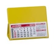 Papelaria Calendário personalizado Brinde calendário de mesa em PVC amarelo - FBCL-0040L