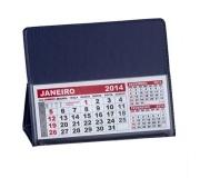 Brinde calendário de mesa em PVC azul - FBCL-0040L