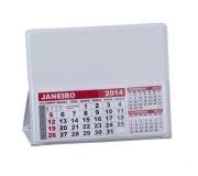 Papelaria Calendário personalizado Brinde calendário de mesa em PVC branco - FBCL-0040L