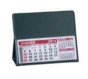 Papelaria Calendário personalizado Brinde calendário de mesa em PVC verde - FBCL-0040L