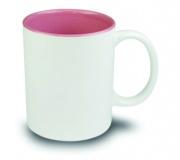 Cozinha e afins Canecas personalizadas Brinde caneca em cerâmica personalizada interior rosa, FBCA-00340R