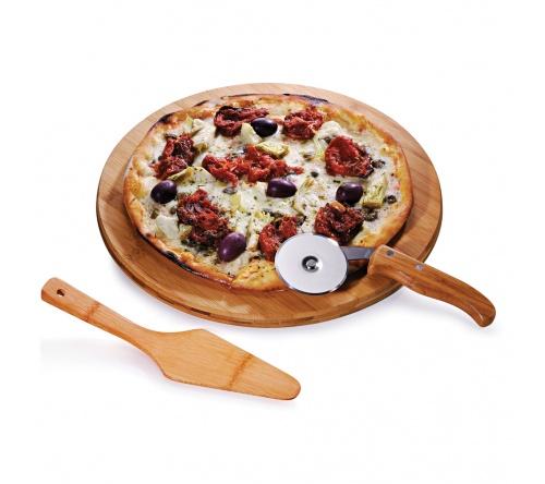 Brinde conjunto para pizza em bambu FBPZ-10133