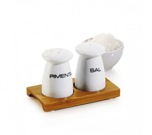 Brinde conjunto sal e pimenta