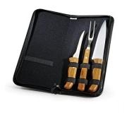 Cozinha e afins Kit churrasco personalizado Brinde kit de facas em bambu 4 pçs FBPB-00103