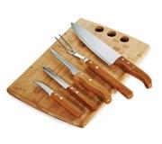 Cozinha e afins Kit churrasco personalizado Brinde kit para churrasco em bambu 6 pçs FBMB-21533