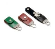 Brinde pen drive em couro - FBPD-00184