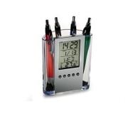 Brinde porta canetas com relógio FBCA-00590