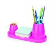 Papelaria Porta canetas Brinde porta canetas plástico rosa - FBPC-00434
