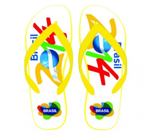 Kit com 20 chinelos personalizados FBCH-00896