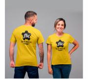 Vestuário Camisetas personalizadas Brinde camiseta personalizada algodão fio 30.1 - amarela - FBCF-0010