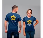 Vestuário Camisetas personalizadas Brinde camiseta personalizada algodão fio 30.1 - azul - FBCF-0011