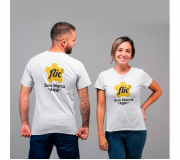 Vestuário Camisetas personalizadas Brinde camiseta personalizada algodão fio 30.1 - branca - FBCF-0013
