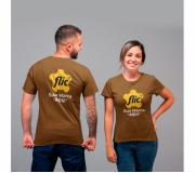 Vestuário Camisetas personalizadas Brinde camiseta personalizada algodão fio 30.1 - marrom - FBCF-0016