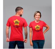 Vestuário Camisetas personalizadas Brinde camiseta personalizada algodão fio 30.1 - vermelha - FBCF-0015