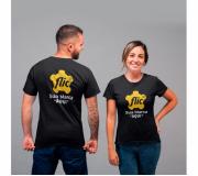 Vestuário Camisetas personalizadas Brinde camiseta personalizada algodão fio 30.1 preta - FBCF-0012