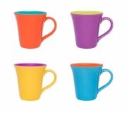 Cozinha e afins Canecas personalizadas Brinde caneca de cerâmica personalizada Bicolor 330 ml FBCA-0035