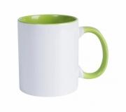 Cozinha e afins Canecas personalizadas Brinde caneca em cerâmica personalizada interior verde FBCA-00340V