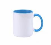 Cozinha e afins Canecas personalizadas Brinde caneca em cerâmica personalizada interior azul FBCA-00340AC