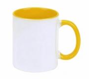 Cozinha e afins Canecas personalizadas Brinde caneca em cerâmica personalizada, interior amarelo FBCA-00340AO