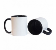 Cozinha e afins Canecas personalizadas Brinde caneca em cerâmica personalizada, interior preto FBCA-00340PT