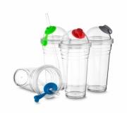 Cozinha e afins Copos personalizados Brinde copo com canudo personalizado - FBCO-0800
