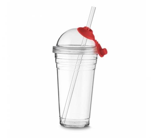 Brinde copo com canudo personalizado - FBCO-0800