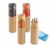 Diversos Brindes Infantis Brinde estojo de lápis de cor + apontador - FBLP-91751