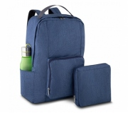 Bagagem e Bolsas Mochilas personalizadas Brinde mochila dobrável personalizada azul FBMD-00280AZ