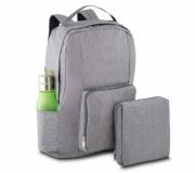 Bagagem e Bolsas Mochilas personalizadas Brinde mochila dobrável personalizada cinza FBMD-00280CZ