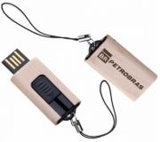 Tecnologia Pen drive personalizado Pen drive personalizado, retrátil de madeira FBPD-00245