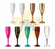 Cozinha e afins Taças personalizadas Brinde taça de champagne personalizada acrílico 180 ml - FBTP-005267