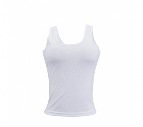 Camiseta regata feminina em poliéster