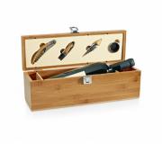Cozinha e afins Kit vinho personalizado Conjunto para vinho personalizado em bambu - FBKV-94189